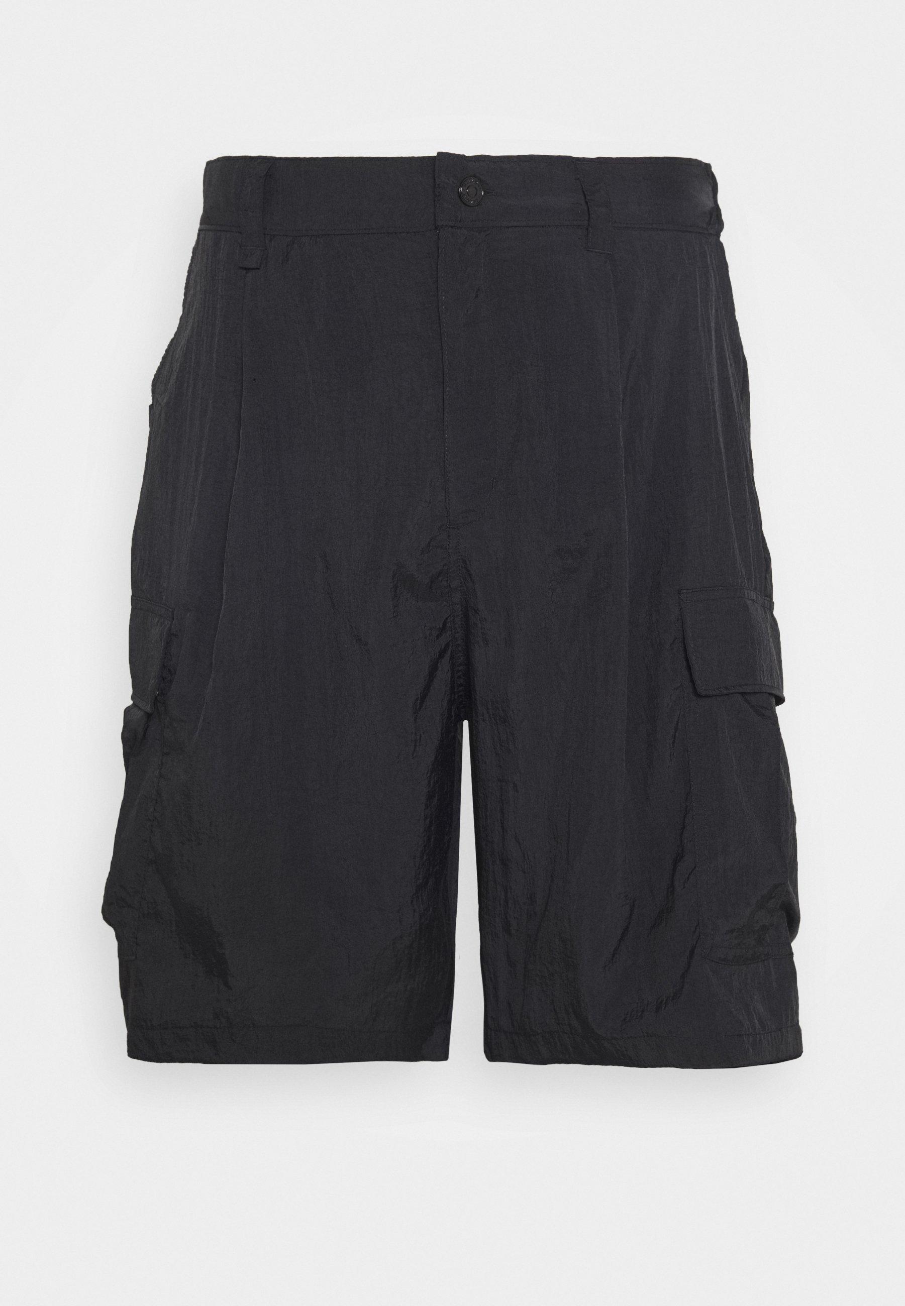 Weekday Linton Cargo - Shorts Black/svart