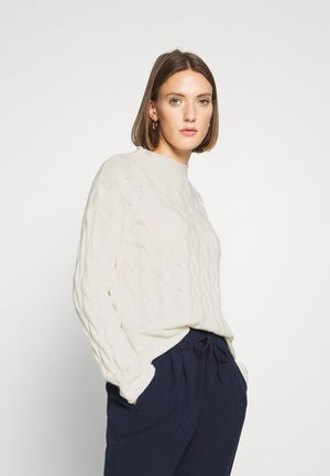 TURTLE NECK - Strickpullover - off white