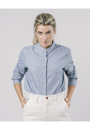 SAPPORO ESSENTIAL - Button-down blouse - blue