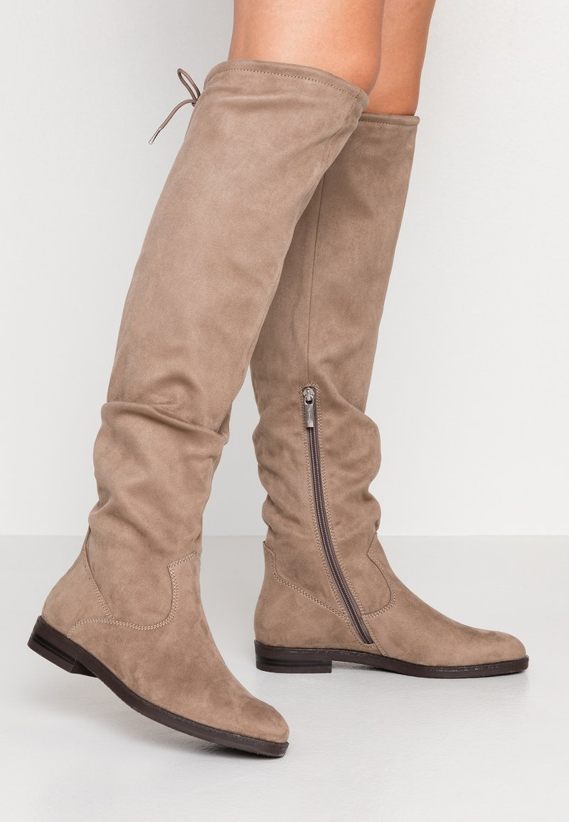 Tamaris - Kozačky nad kolena - beige