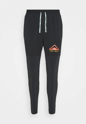PANT TRAIL - Pantalon de survêtement - black/laser crimson