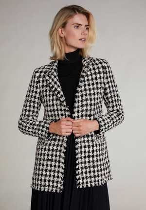 Short coat - black offwhite