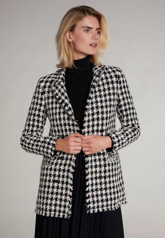 Halflange jas - black offwhite