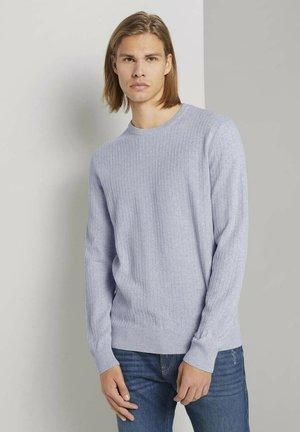 Sweatshirt - light stone grey melange