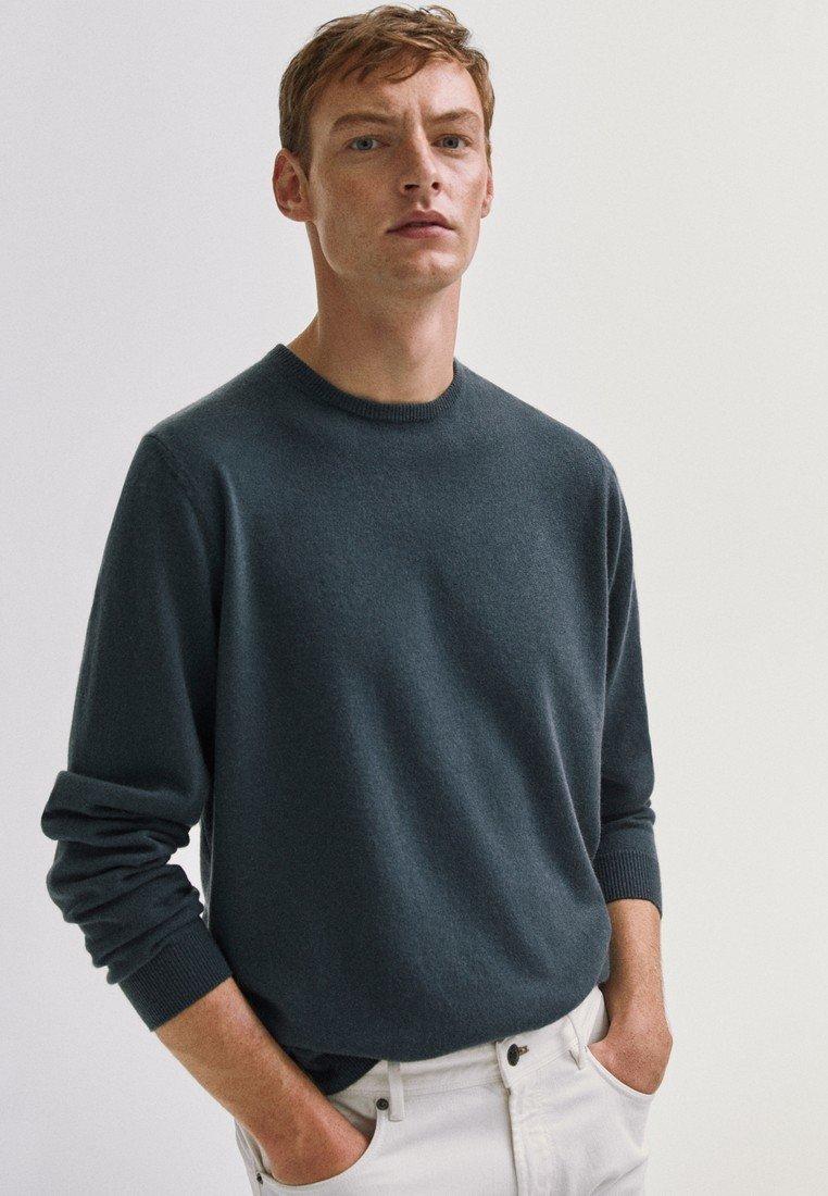 Massimo Dutti Mit Rundausschnitt - Sweter Khaki