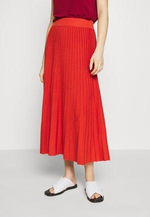 NICHEL - A-line skirt - rost