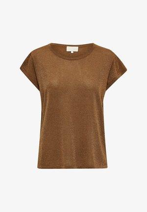 CARLINA  - Basic T-shirt - walnut brown lurex