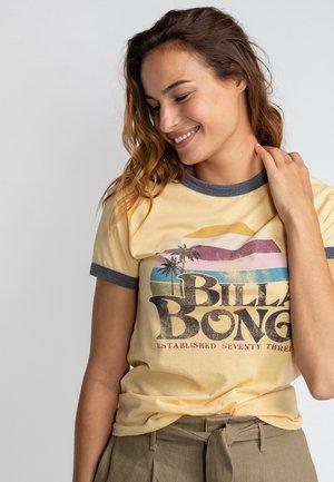 Print T-shirt - pale yellow