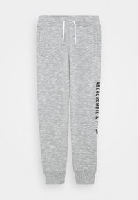 Abercrombie & Fitch - LOGO - Tracksuit bottoms - grey - 0