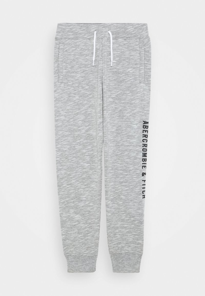 Abercrombie & Fitch - LOGO - Tracksuit bottoms - grey