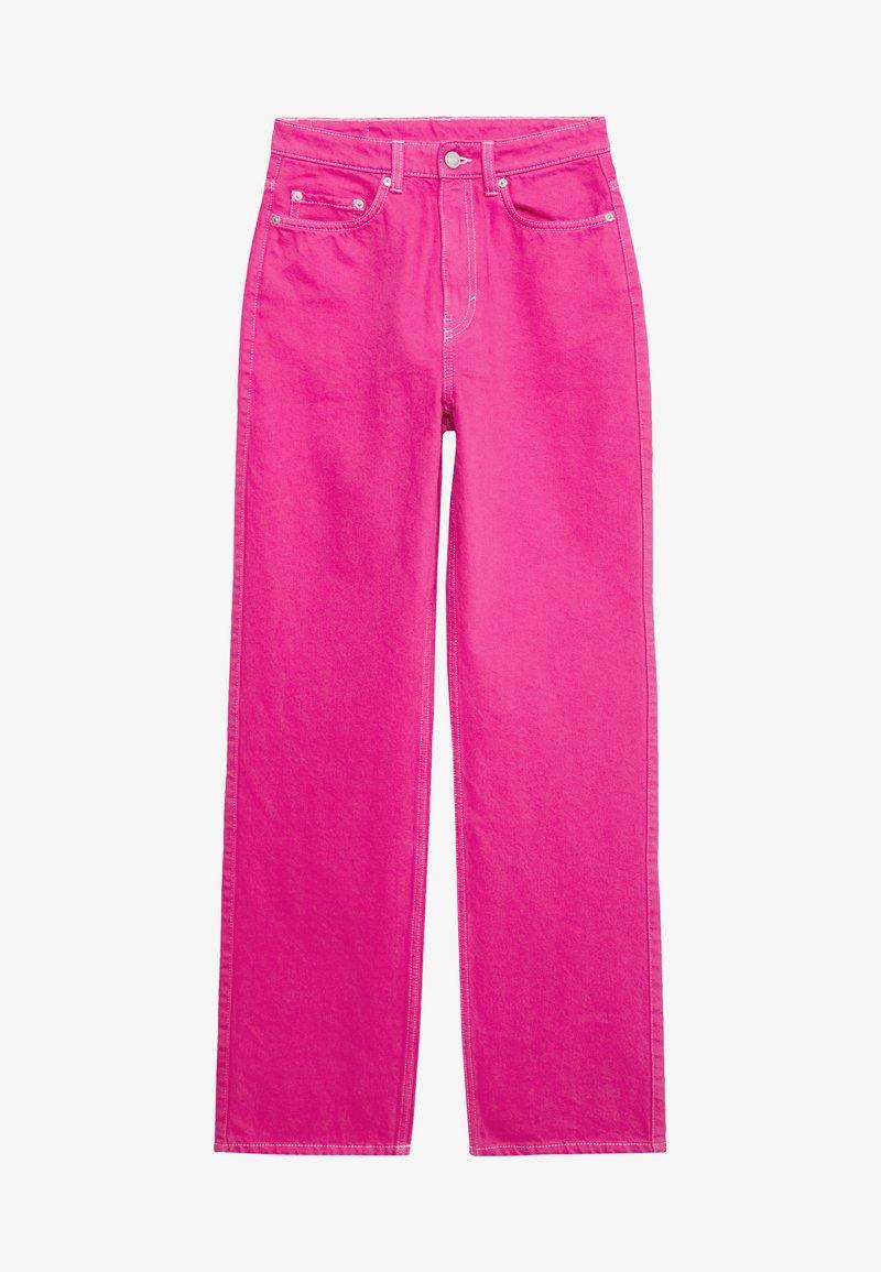 Weekday - ROWE - Jeans Straight Leg - cerise pink