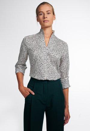MODERN CLASSIC - Overhemdblouse - cremeweiss/schwarz