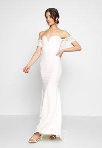Missguided - BRIDAL LACE  PLUNGE FISHTAIL MAXI DRESS - Suknia balowa - ivory - 1