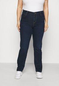 Levi's® Plus - 724 PL HR STRAIGHT - Straight leg jeans - dark blue denim - 0