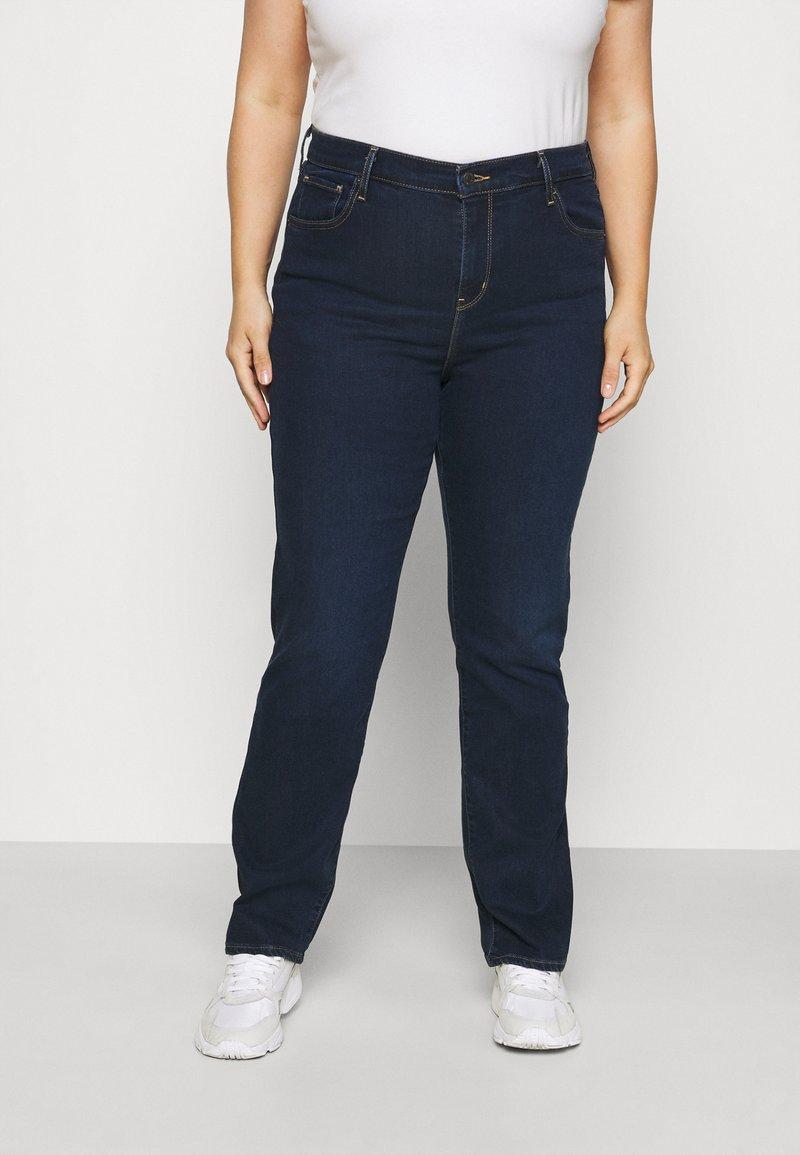 Levi's® Plus - 724 PL HR STRAIGHT - Straight leg jeans - dark blue denim