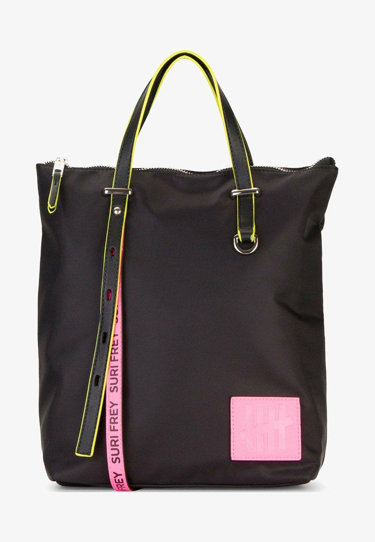SURI FREY - FIVE CITY - Mochila - black/pink