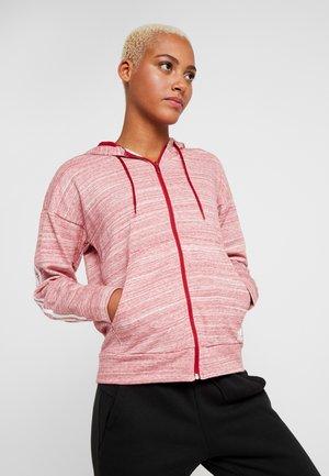 Zip-up hoodie - active maroon/off white/white