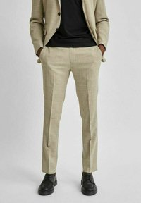 Selected Homme - LEICHT - Kostymbyxor - sand - 0