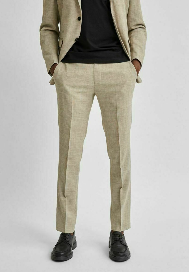 Selected Homme - LEICHT - Kostymbyxor - sand
