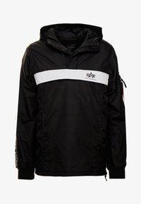 Alpha Industries - AL TAPE ANORAK - Light jacket - black - 3