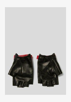 KARL X KARL - Fingerless gloves - black red
