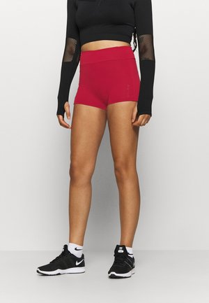 MID RISE SHORT SHORTS - Leggings - red