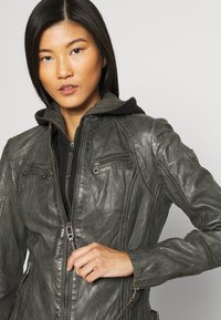 Gipsy - NOLA LAGA - Leather jacket - grey - 4