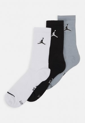 JUMPMAN CREW 3 PACK - Calze sportive - black/white/wolf grey