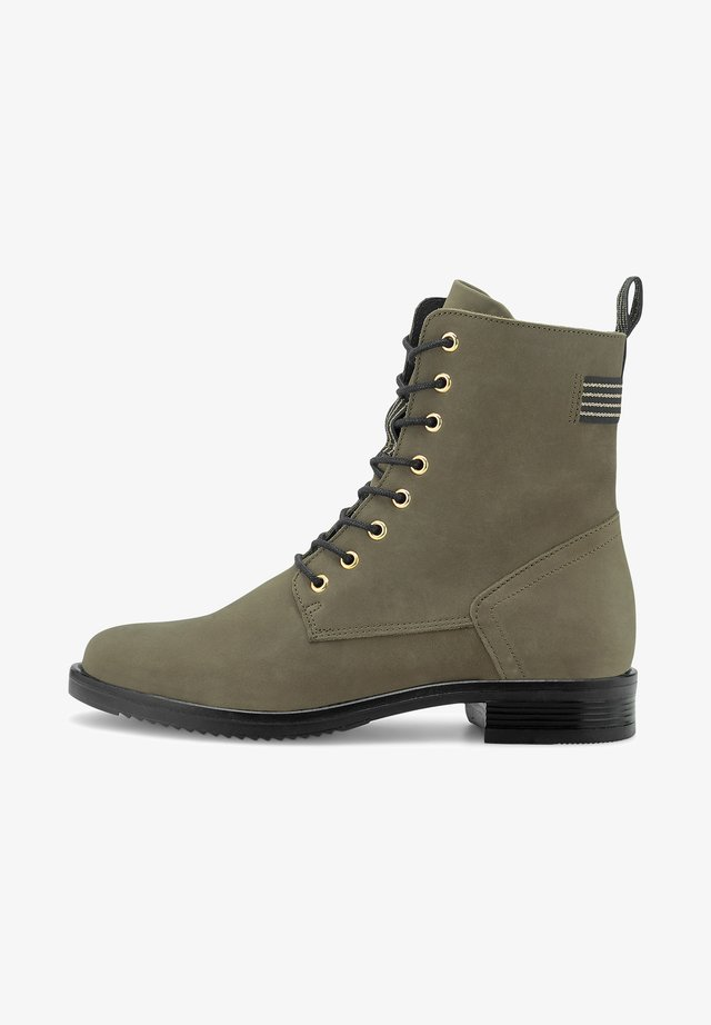 Bottines à lacets - khaki