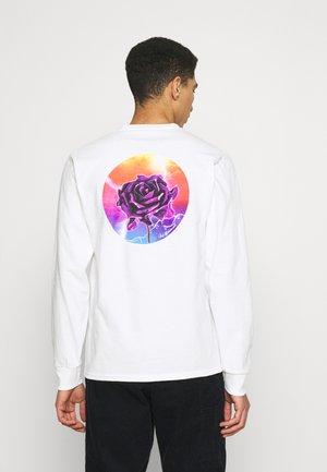 LIGHTNING ROSE TEE - Pitkähihainen paita - white