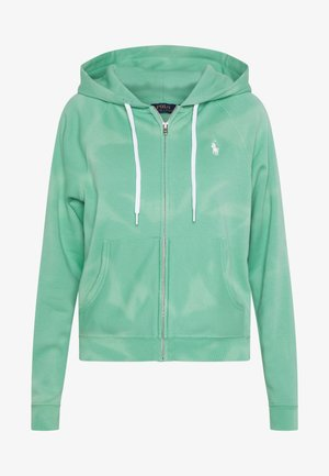 LONG SLEEVE  - Zip-up hoodie - deep seafoam