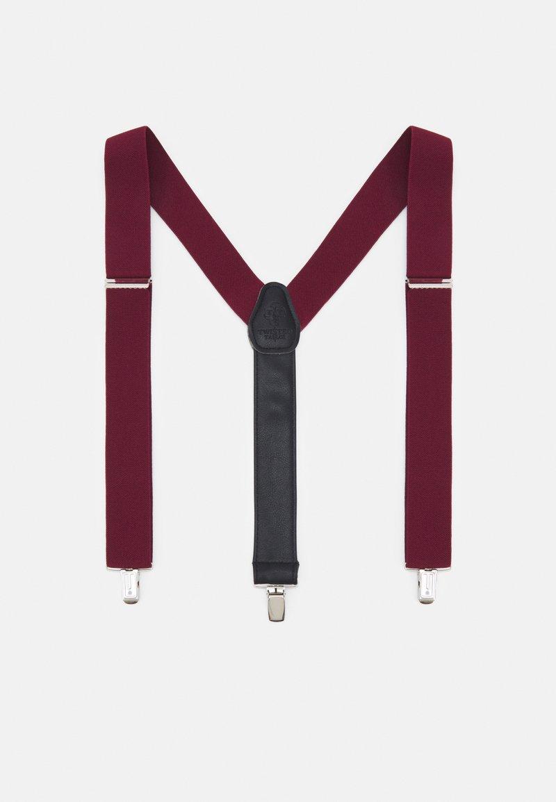 Twisted Tailor - PHIL BRACES - Pásek - bordeaux
