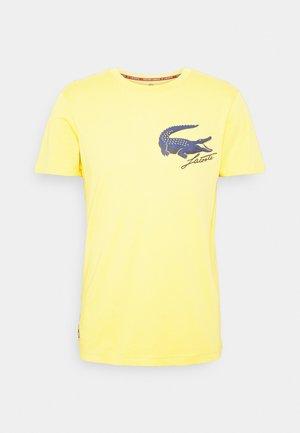 LOGO - Print T-shirt - sunny/navy blue