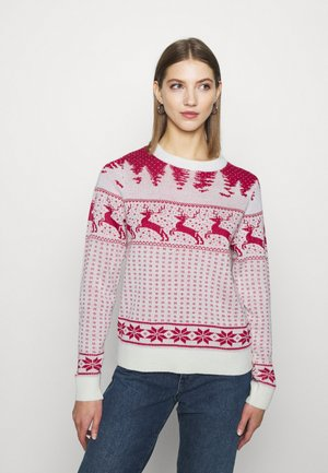 VICOMET CHRISTMAS - Jumper - snow white/red