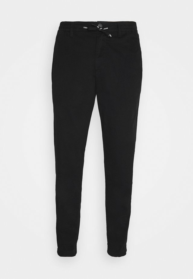 ESSENTIAL CUFFED CHINO - Chino kalhoty - black