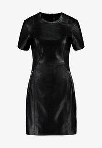 ONLY - ONLLENA LEATHER DRESS OTW - Pouzdrové šaty - black - 5