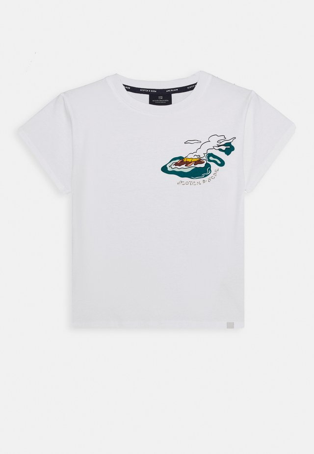 ISLAND SOUVENIR TEE - T-shirt z nadrukiem - white