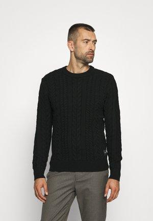SEASONAL CREWNECK - Stickad tröja - black
