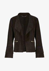 Marc Cain - Leather jacket - arabica - 4