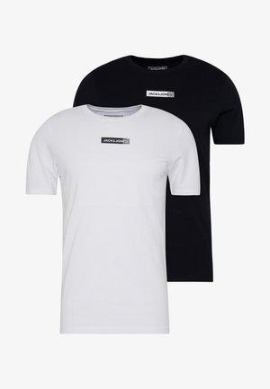 JCOZSS TEE SLIM FIT 2 PACK - T-shirt basic - white/black