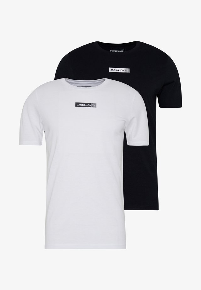 JCOZSS TEE SLIM FIT 2 PACK - T-shirt - bas - white/black
