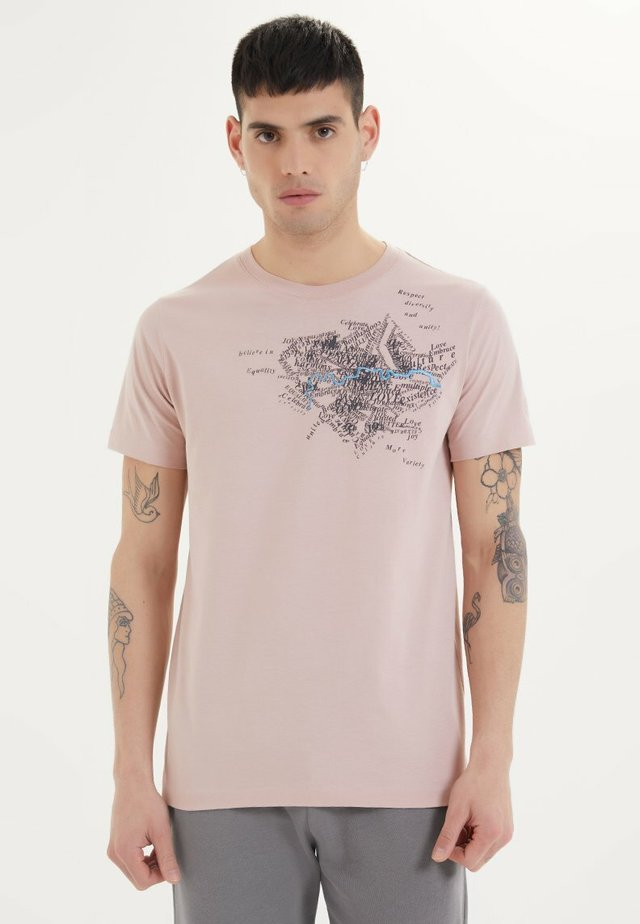 RIVER - T-shirt print - adobe rose