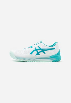 GEL-RESOLUTION 8 - Zapatillas de tenis para todas las superficies - white/lagoon