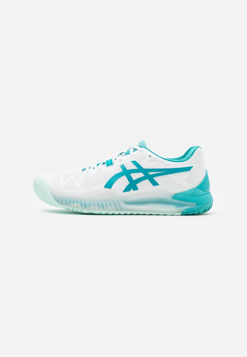 ASICS - GEL-RESOLUTION 8 - Scarpe da tennis per tutte le superfici - white/lagoon