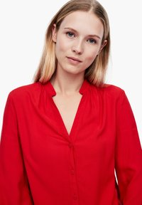 Q/S designed by - Button-down blouse - crimson red - 4
