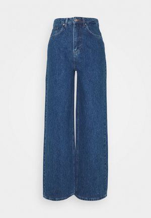 WIDE LEG  - Straight leg jeans - mid blue