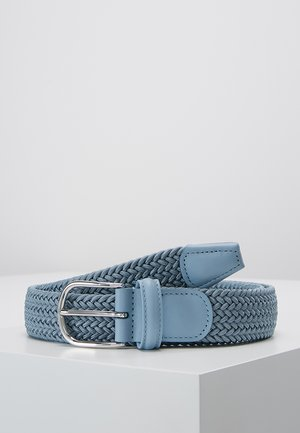 BELT - Braided belt - blue/grey