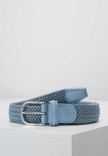 STRECH BELT UNISEX - Braided belt - blue/grey