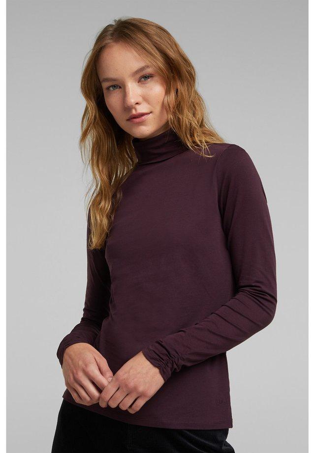 Long sleeved top - aubergine