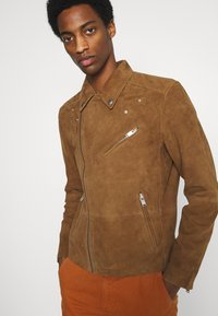 Selected Homme - Giacca di pelle - rubber - 3